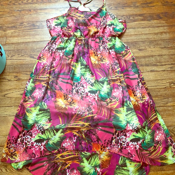 Maurices Dresses & Skirts - Maurice's Floral Hi-low Maxi Dress size 4.